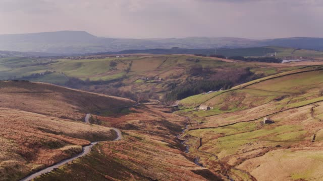 Lancashire Moorland Near Burnley - Drone Shot