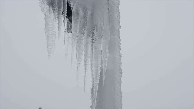 Land covered in icicles video