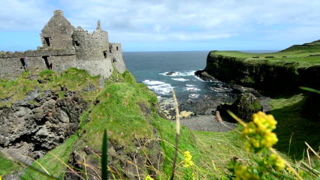 Landascapes of Ireland. Dunluce castle, Northern Ireland video
