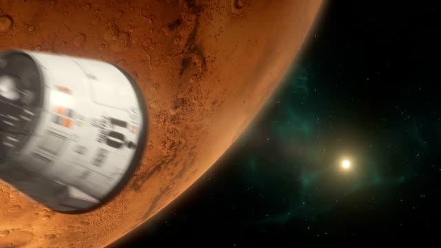 Lander Approaching Mars video