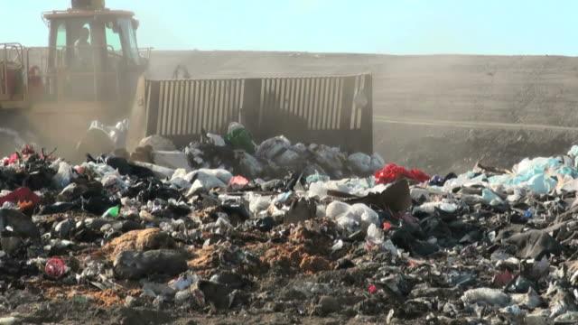 Landfill, Dump Truck, Bulldozer video