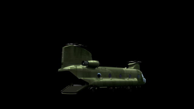 CH-47 landing and  lift off video