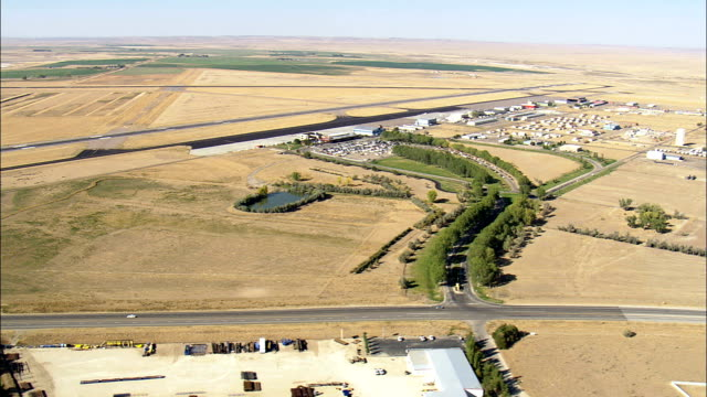 Landing at Casper Airport - Aerial View - Wyoming, Natrona County, United States video