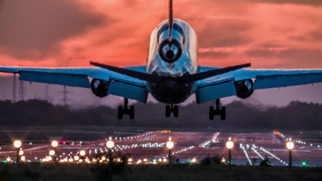 Landing Cargo Airplane