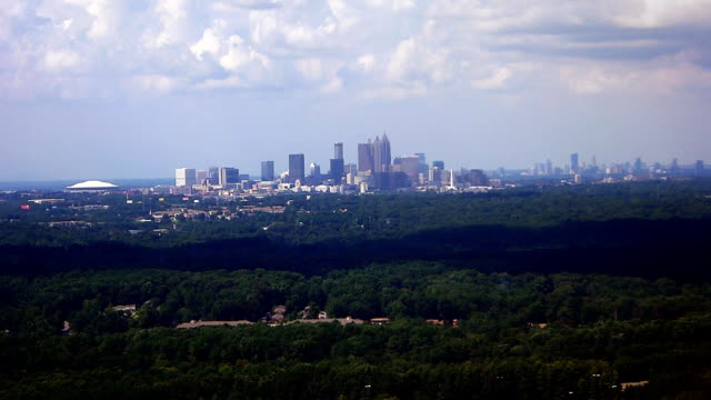 Landing in Atlanta International Airport video