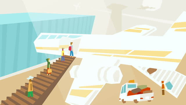 Landing on Aircraft Animated Scene video