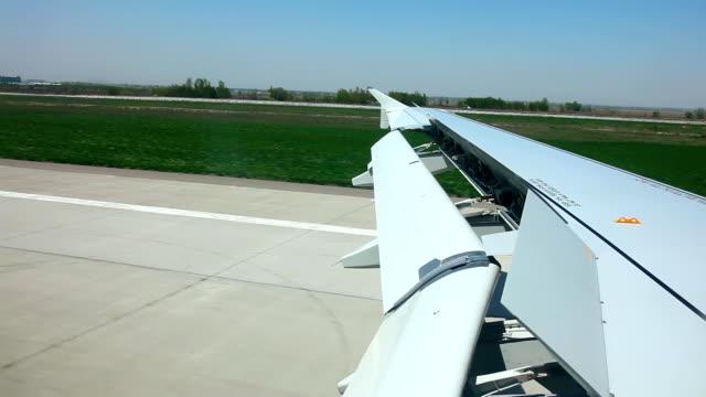 atterraggio. - battere le ali video stock e b–roll