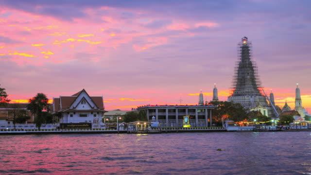 Landmark of bangkok Temple of Wat Arun, in Bangkok, Thailand Landmark of bangkok Temple of Wat Arun, in Bangkok, Thailand sukhothai stock videos & royalty-free footage