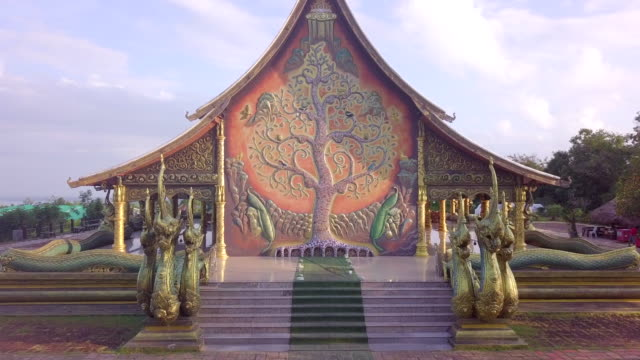 Landmark temple thailand  Wat Sirindhorn Wararam Phu Prao temple in Ubon Ratchathani province Thailand