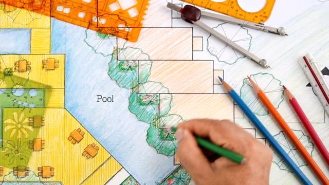 Landscape Architect Design hotel resort plan video