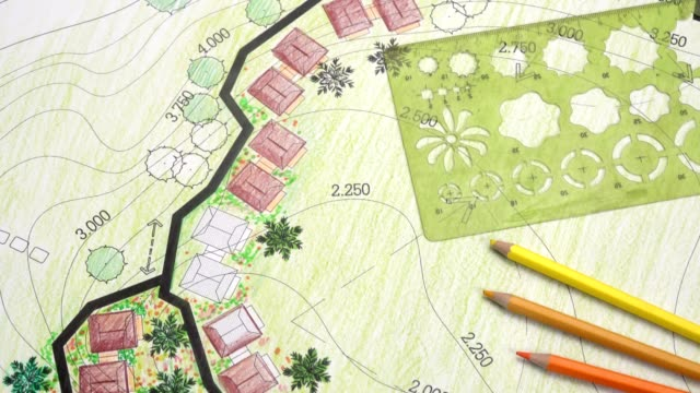 56 Landscape Design Sketch Stock Videos And Royalty Free Footage Istock