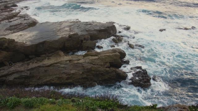 vídeos y material grabado en eventos de stock de paisaje en la catedral de roca, australia kiama. - basalto