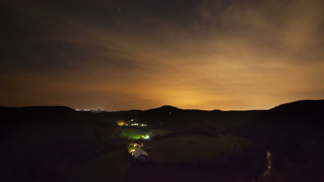 (TIME LAPSE) Landscape at night video