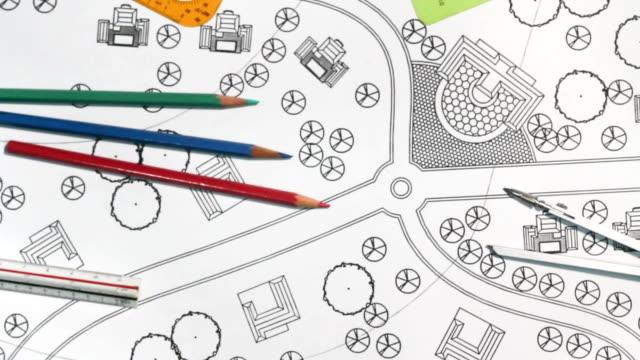 Landscape Designs Blueprints For Resort. video