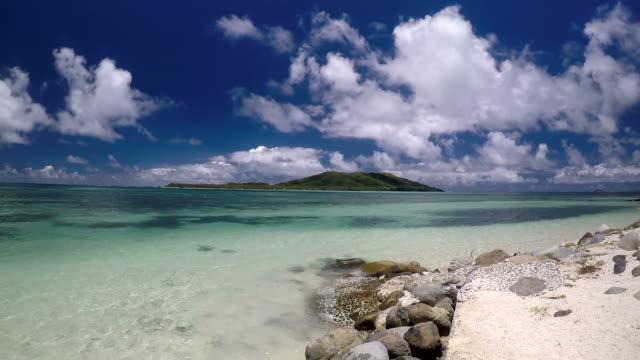 Landscape from a resort in Fiji video