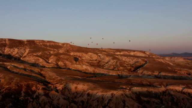 Landscape in Cappadocia in Hot air balloons video