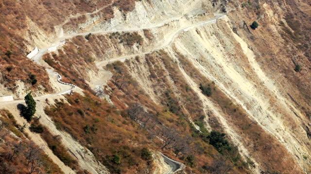 landscape in mountain range - haryana video stock e b–roll