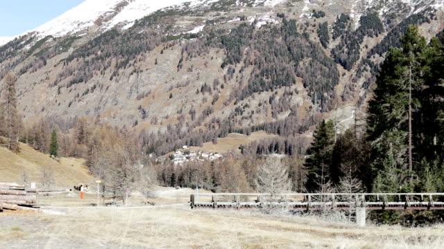 Landscape in Pontresina in Svitzerland video