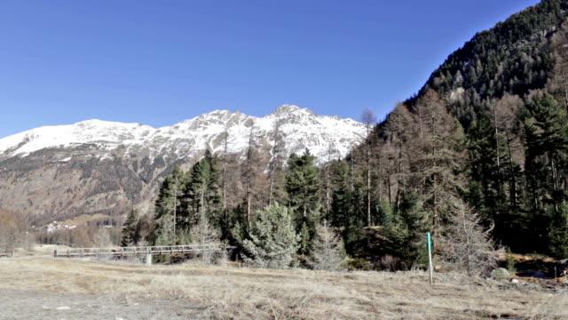 Landscape in Val Roseg in Svitzerland video