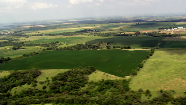 Landscape Near Lake Andes  - Aerial View - South Dakota, Charles Mix County, United States video
