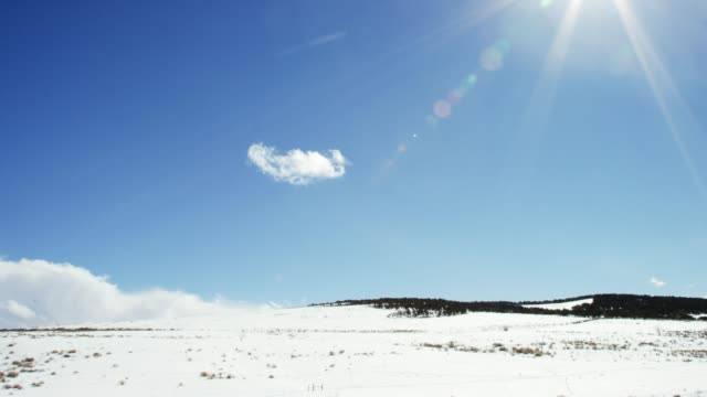 Landscape Near Meeker, Colorado on a Sunny, Snowy, Partially Cloudy Day