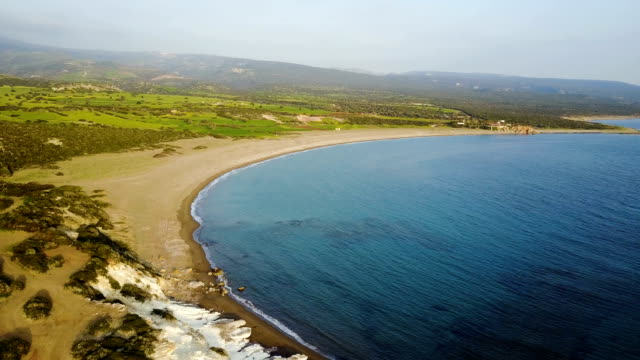 Landscape of a transparent clear blue Mediterranean Sea. The island of Cyprus. Resort. blue lagoon Landscape of a transparent clear blue Mediterranean Sea. The island of Cyprus. Resort. arthropod stock videos & royalty-free footage