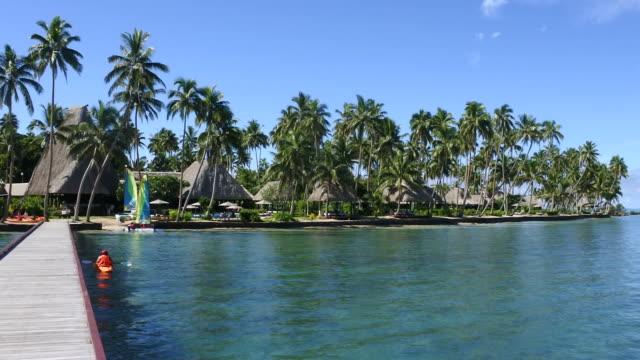 Landscape of a tropical resort in Fiji Islands video