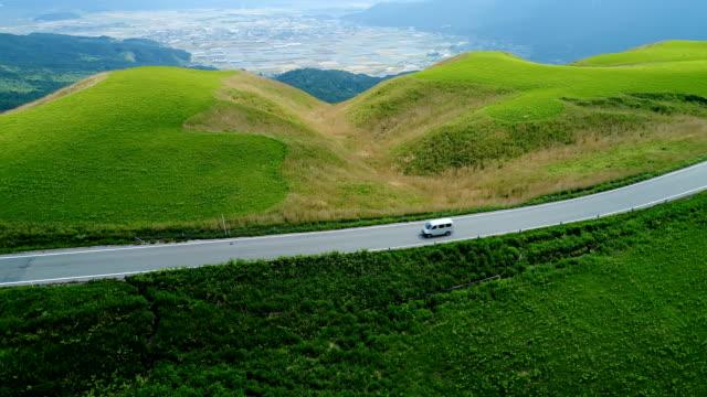 landscape of Aso area in Japan video