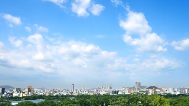 福岡市の風景 - 広角撮影点の映像素材/bロール