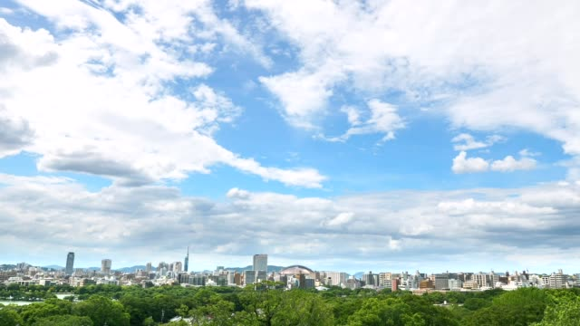 landscape of Fukuoka city - video