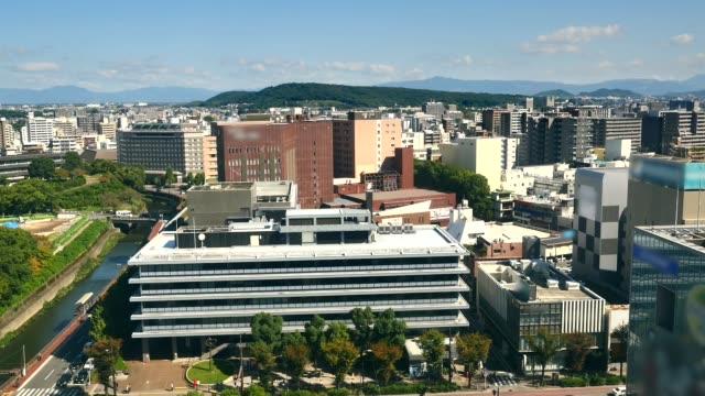 landscape of Kumamoto city - video
