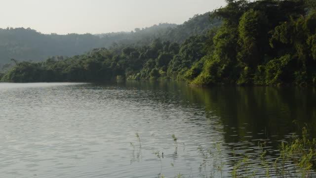 landscape of mountain in reservoir