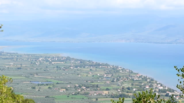 Landscape of Neo Thronio. ityscape of Neo Thronio on Aegean seacoast, Greece. general view stock videos & royalty-free footage