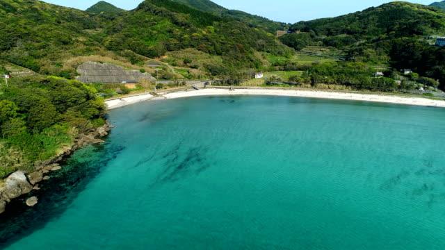 landscape of Neshiko beach in Japan video