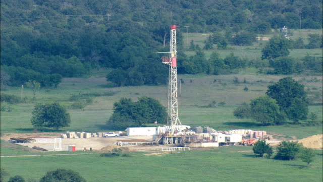 Landscape Of Oil  - Aerial View - Oklahoma, Carter County, United States video