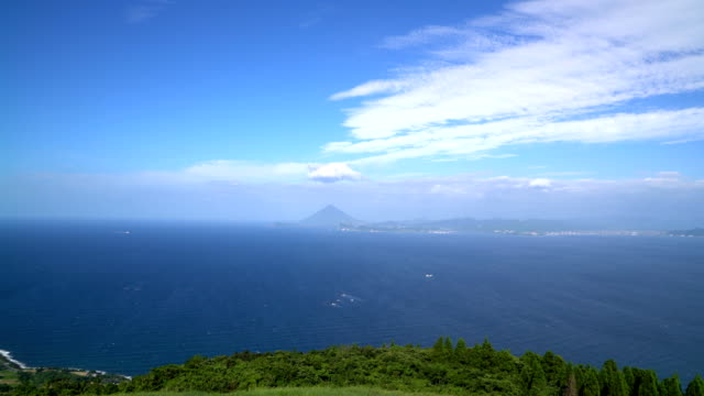 Landscape of seascape at Kagoshima prefecture in Japan video
