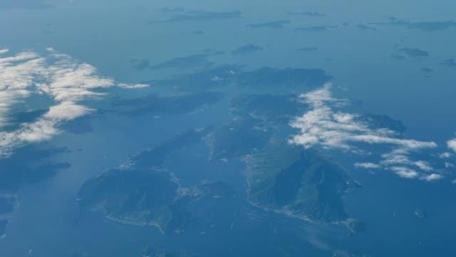 manzara seto iç denizi, havadan görünümü - hiroshima stok videoları ve detay görüntü çekimi