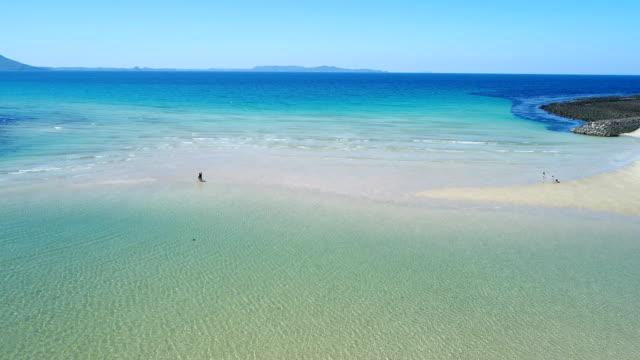 landscape of the blue beach video