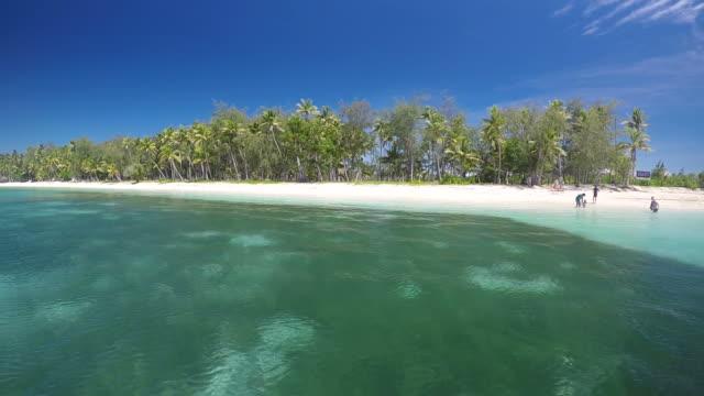 Landscape of The Blue Lagoon on Nanuya Lailai Island Fiji video