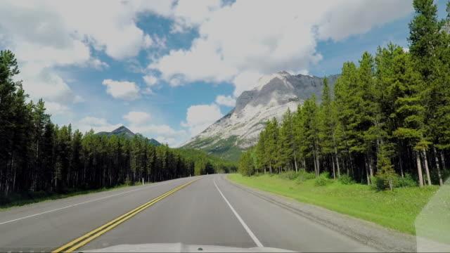 vídeos de stock e filmes b-roll de landscape of the canadian rocky mountains - driveway, no people