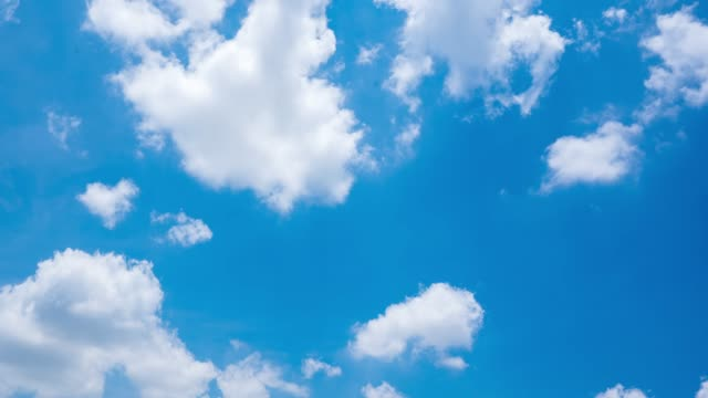 Landscape of the clear Blue sky with cloud