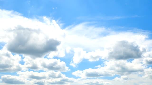 vídeos de stock, filmes e b-roll de paisagem de céu claro - só céu
