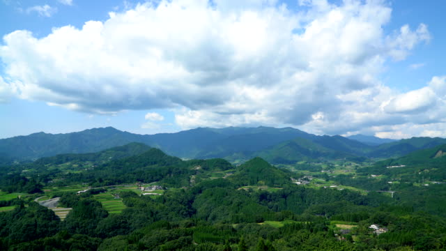 Landscape of the mountain from Kunimigaoka video