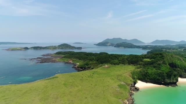 오지 카 섬 풍경 - 섬 스톡 비디오 및 b-롤 화면