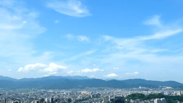 vídeos de stock e filmes b-roll de landscape of tokyo city in japan - céu claro