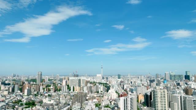 paesaggio della città di tokyo - cittadina video stock e b–roll