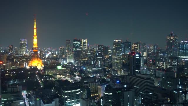 landscape of Tokyo city - video