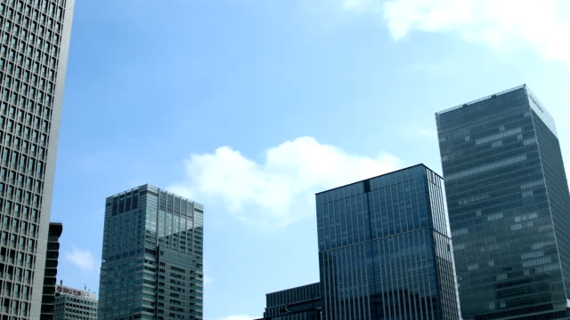 landscape of tokyo city - edificio adibito a uffici video stock e b–roll