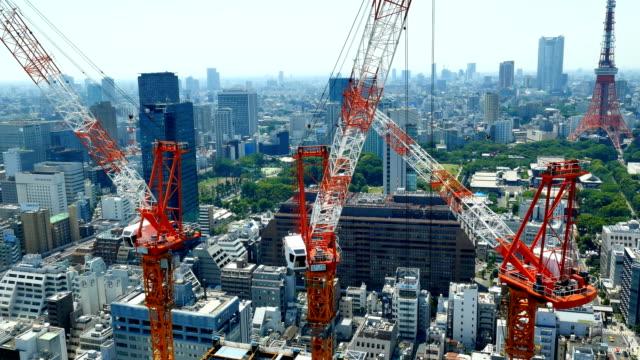 東京都心の風景 - クレーン点の映像素材/bロール