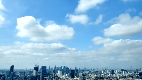 landscape of Tokyo city landscape of Tokyo city clear sky stock videos & royalty-free footage